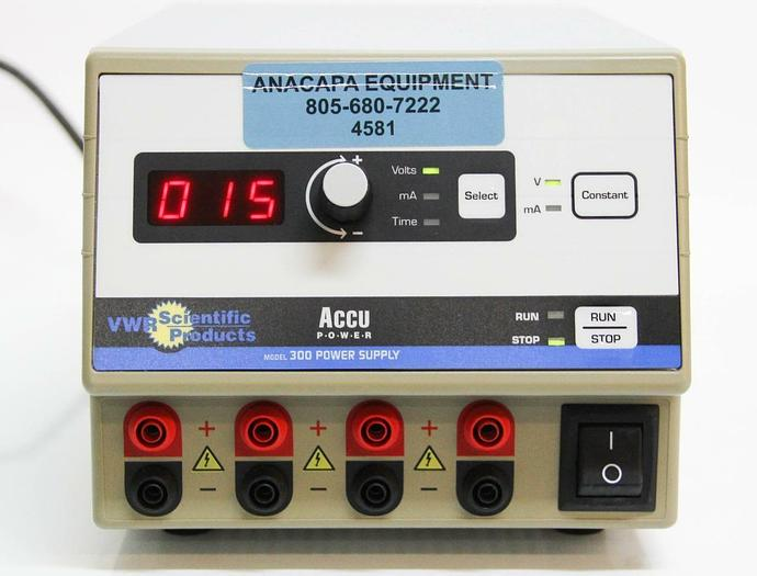 Used VWR Scientific Products Power Supply 300  Electrophoresis Accupower (4581)
