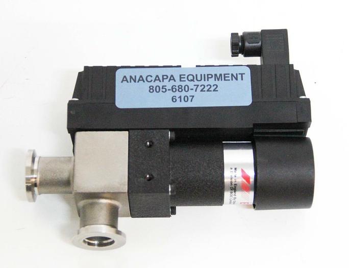Used Edwards PV16EKS C4120400 High Vacuum Valve 3.3W 90-132V 1 ph 50/60Hz SS (6107)