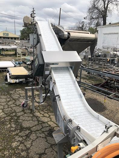 AIM 12'' Wide x 12' Long Intralox Elevator/ Conveyor