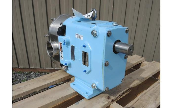 USED WAUKESHA ROTARY LOBE PUMP, MODEL 130, STAINLESS STEEL
