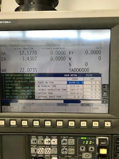 """2011 Okuma LU45 2SC 2000 with 10.2"""" Hole"""