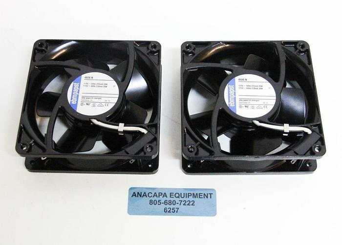 Used Ebmpapst Axial Flow Colling Fan 4606N 115V 2650 RPM NEW LOT OF 2 (6257)