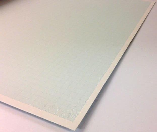 Schoellershammer 'QuickDick' 4G Blue-Line Gridded Graph Board (1.5mm)  51x73cm - QD3075 (Pk 25)