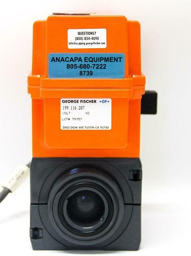 Used George Fischer +GF+ 199.116.207 Code 198.150.433 Type EA20 Actuator, NW40(8739)
