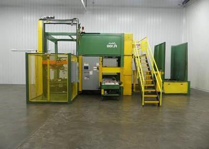 Used Columbia FL-100 Low Level Infeed Case Palletizer