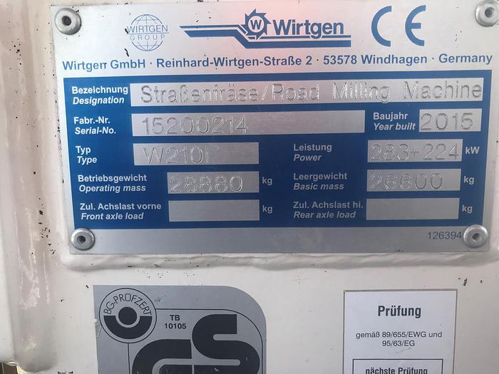 2015 Wirtgen W210i Road Milling Machine