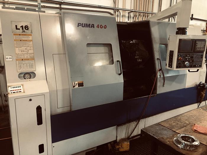 Used 2001 Doosan Puma 400B CNC Lathe - Fanuc 18iT-B