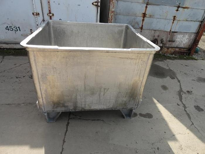 "Used Stainless Steel Vats, 45""x 40""x 30"""