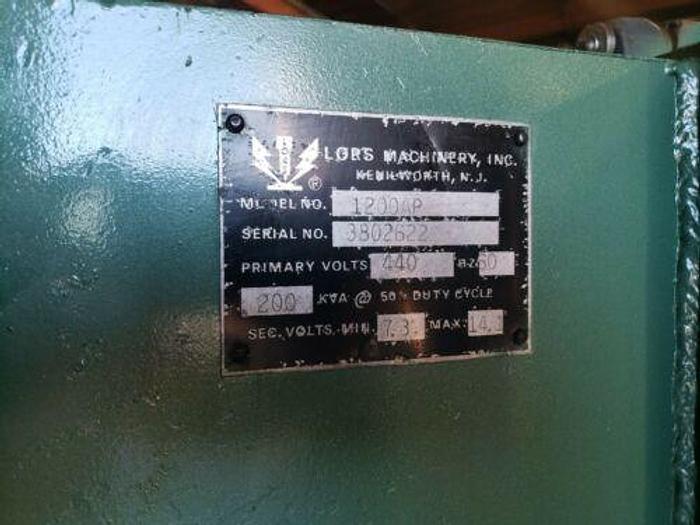 LOTS 200 KVA PRESS TYPE SPOT WELDER W / ENTRON CONTROLS