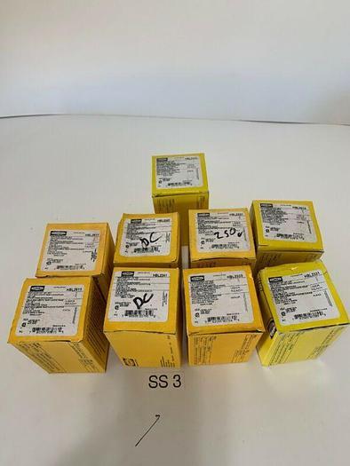 9-NEW HUBBELL ASSORTMENT PLUGS 2-HBL2611,2-HB