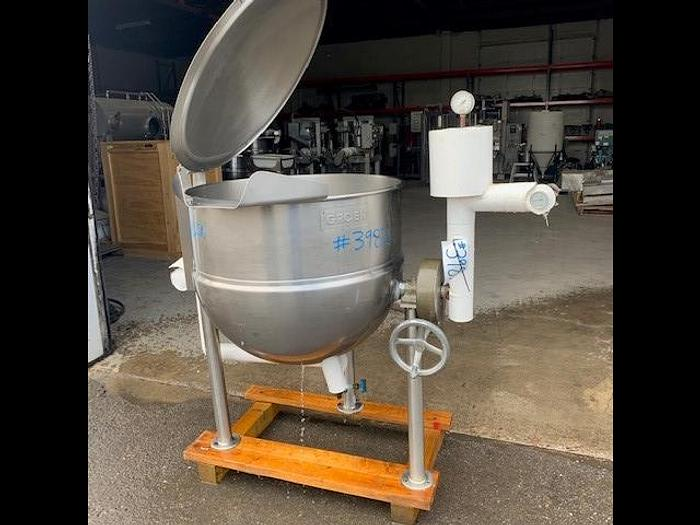 Used Groen 60 Gallon Tilting Stainless Steel Jacketed Steam Mix Kettle D-60