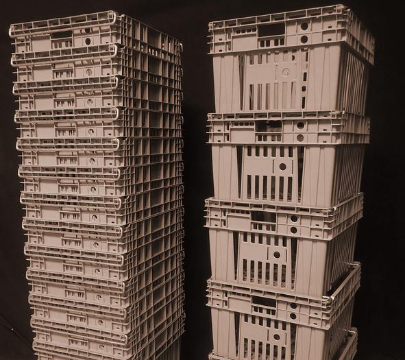 Used USED ORDER FULFILLMENT BASKETS -- STACKABLE/NESTABLE