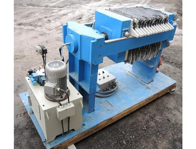 USED FILTER PRESS, RECESSED PLATE, 490 MM X 490 MM, POLYPROPYLENE
