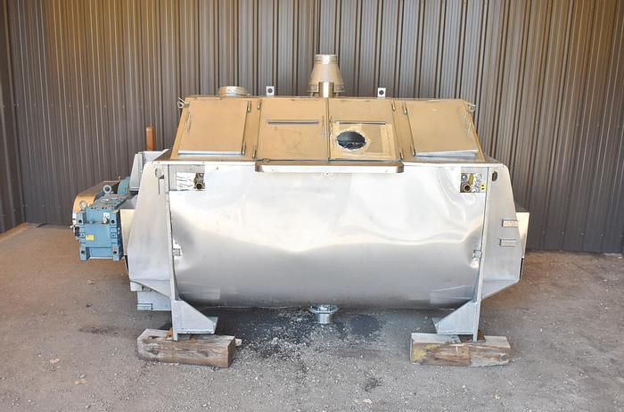 Used USED RIBBON BLENDER, 40 CUBIC FEET, DOUBLE RIBBON, JACKETED, INSULATED, STAINLESS STEEL