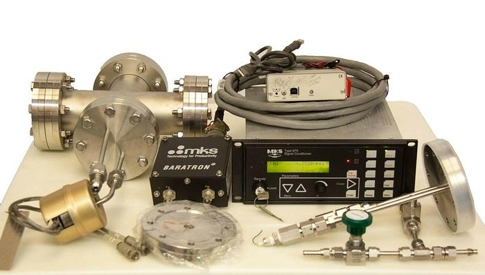 Used MKS Baratron 615A13TRC & MKS Type 670 670BD21 & Bakeout Chamber (7334)R