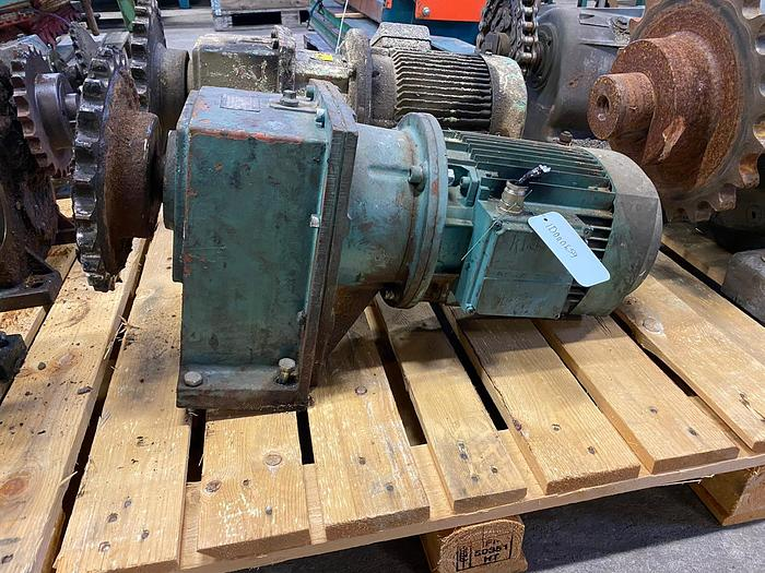 Used ASEA Electric motor with reducer 5,5 kW