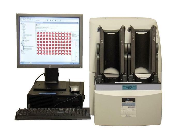 Used Perkin Elmer EnVision 2104 Multilabel Reader w/ Computer + Optical Modules 9075