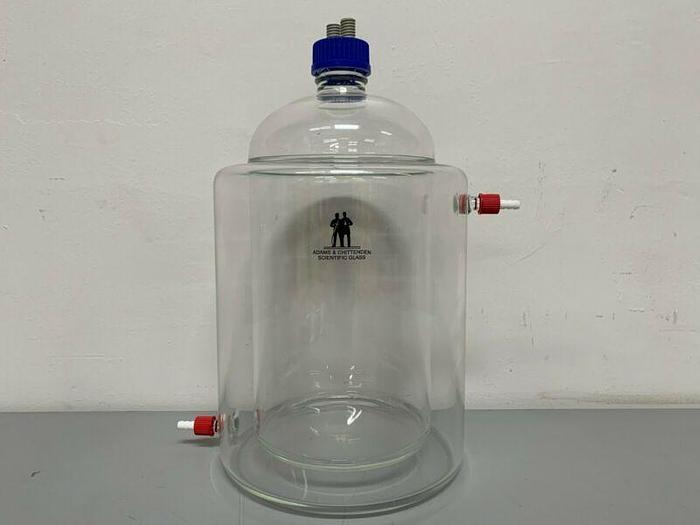 Used Adams & Chittenden Scientific 5 Liter Jacketed Collection Flask / Cold Trap