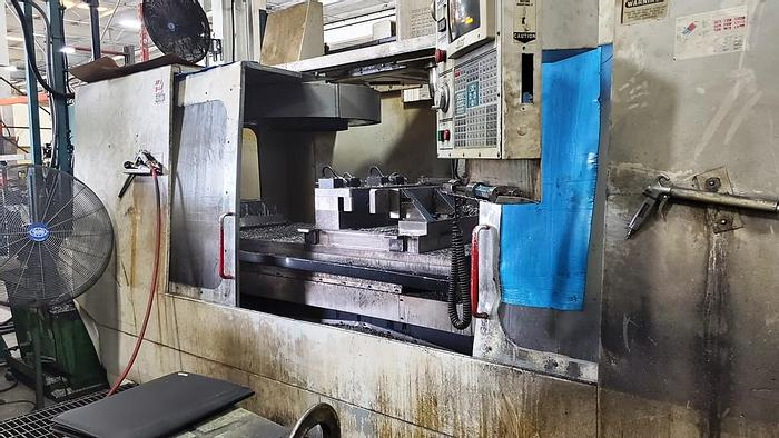 """Used 1997 HAAS VF 7/50, Table 28"""" x 84"""", X-84"""", Y-32"""", Z-30"""", 30hp, 7500 rpm, 12"""" 4th Axis Rotary Table, 30+1 ATC, HAAS CNC"""