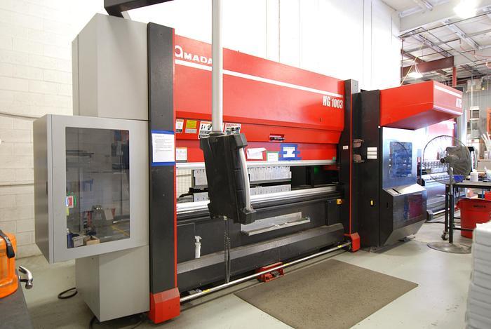 "110 TONS X 118"", AMADA, 2016, HG1003ATC, HYBRID CNC PRESS BRAKE"