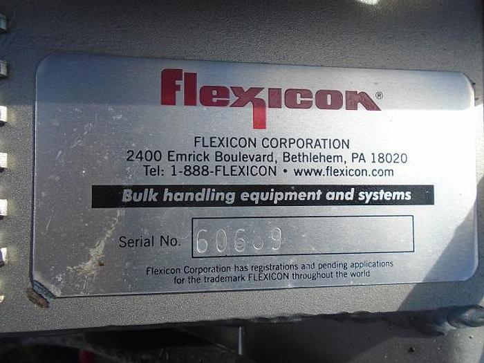 "USED SCREW CONVEYOR, 4"" DIAMETER X 72"" LONG, STAINLESS STEEL, SANITARY, ''FLEXICON''"
