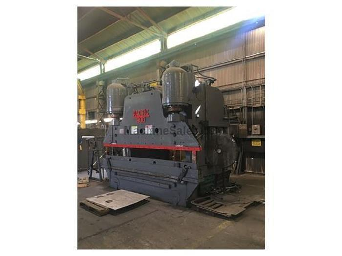 1954 600 Ton Pacific 600-10 Hydraulic Press Brake