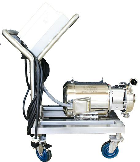 Used Alfa Laval Ultra Pure Water Pump LKHU10 + Powerflex 70, Electropolished 7.5 HP
