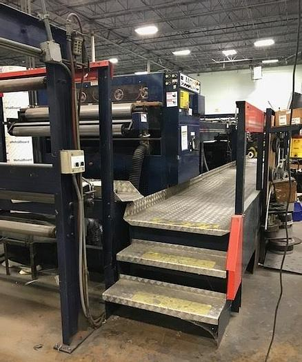 """Used 55"""" SHM SHEETER 1400 W/ THREE SHAFTLESS BACKSTANDS"""