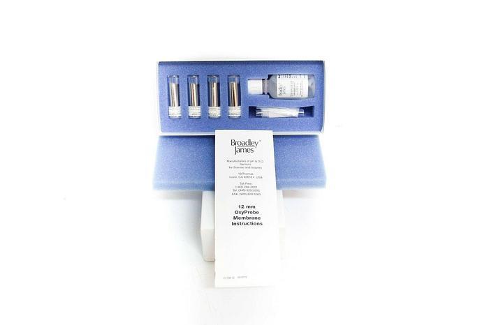 Broadley James 12mm OxyProbe Membrane DO Cartridge Kit w Electrolyte (5476)