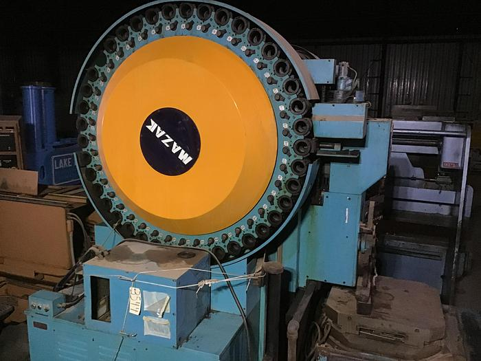Used Mazak Powercenter H-20 CNC Horizontal Machining Center; Fanuc 6M Control
