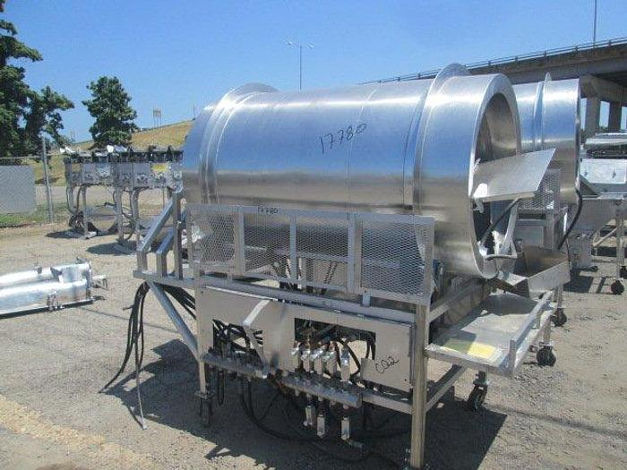 Used Stainless Steel Drum Breader w/Auger and Crumb Conveyor; 1000Lbs Capacity