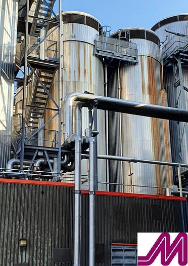 Used 200,000 Litre (2000 Hl) Stainless Steel Jacketed Fermenter with Conical Base