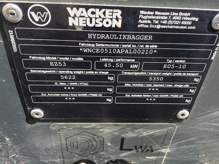 2017 Wacker Neuson EZ53