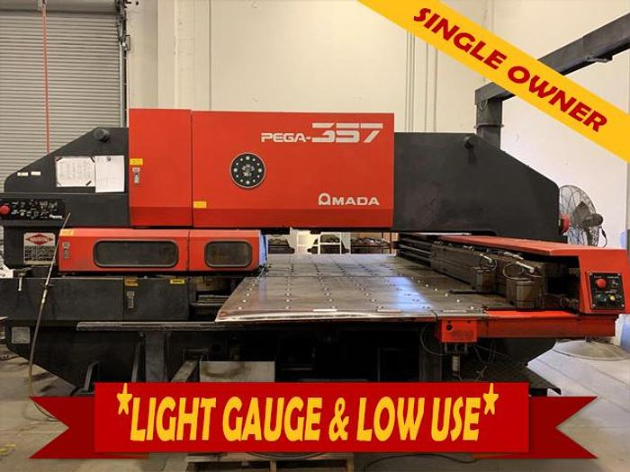 Used 1990 33 Ton Amada Pega 357 CNC Turret Punch