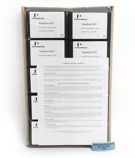 Perkin Elmer RoboRack MDT P30 MDT Non-Sterile Clear 6001286 NEW  (4664)