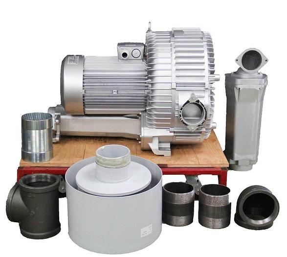Atlantic Blowers AB-2102 ABPK-2102 Regenerative Blower &Pressure Kit  NEW (6947)