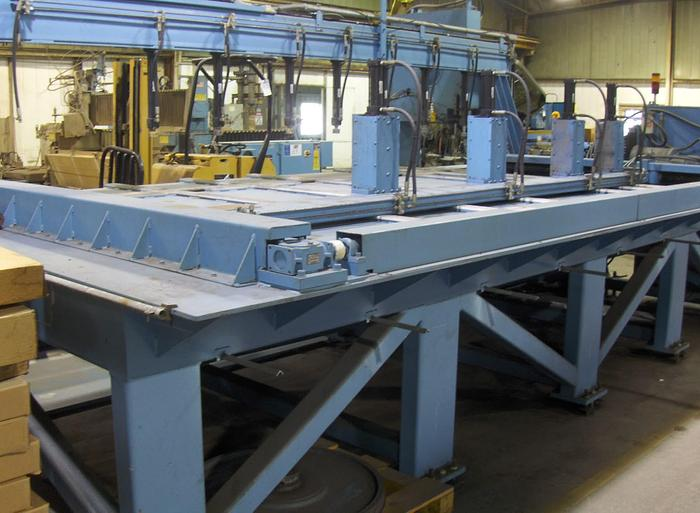 """Used 12"""" x 144"""" TANNEWITZ Model 3000-MH1 Vertical Band Type Plate Saw; Mfg. 2003"""