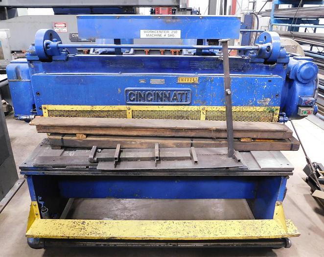 Used Cincinnati 6' x 3/8 Mechanical Shear 1806