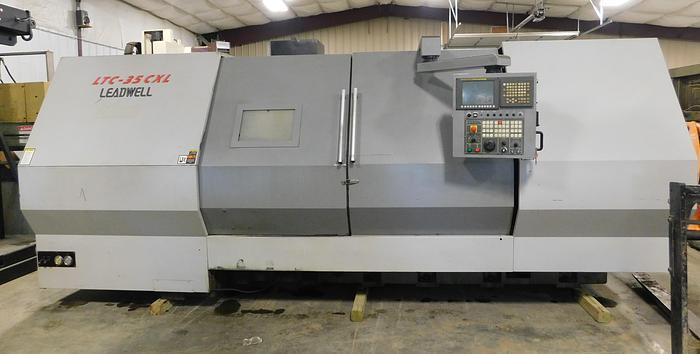 Used Leadwell CNC Slant Bed Turning Center LTC-35 CXL