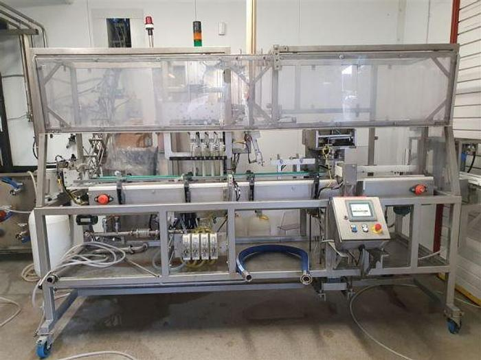 Used 2017 4 Head Carbonated Can Filler / Seamer with Plc controller
