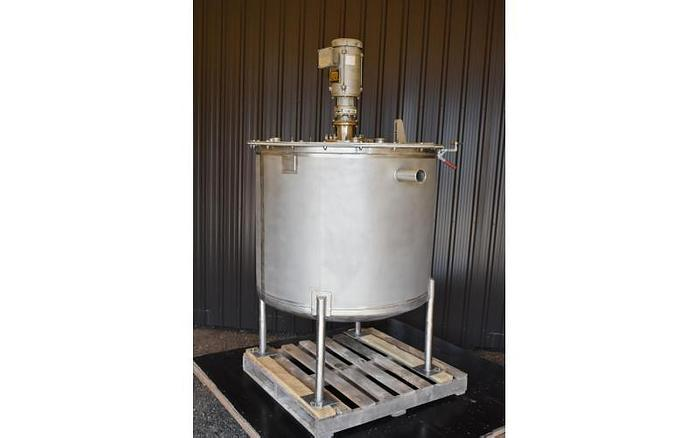USED 210 GALLON MIXING TANK, STAINLESS STEEL