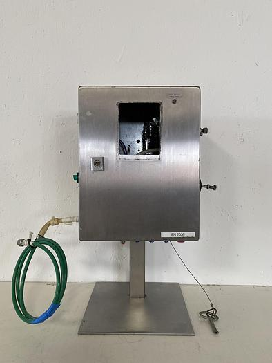 """Used Stainless Steel  12"""" x 8"""" x 15"""" Enclosure on Stand w/ Key"""