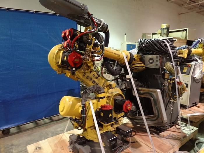 2013 FANUC R2000iB/210F 6 AXIS CNC ROBOT WITH R30iA CONTROLLER EQUIPPED WITH 7TH AXIS DRIVE FOR SERVO GUN SPOT WELDING