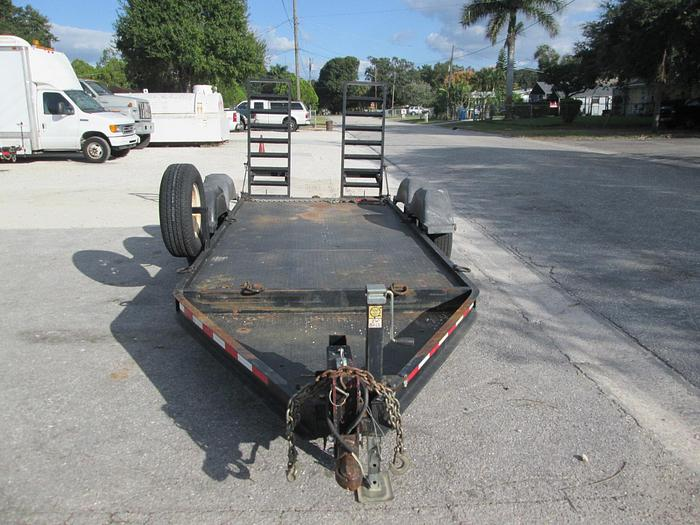 Low pro steel deck equipment trailer