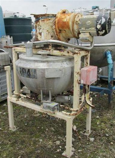 Used 100 Litre Stainless Steel Steam Jacketed Tank