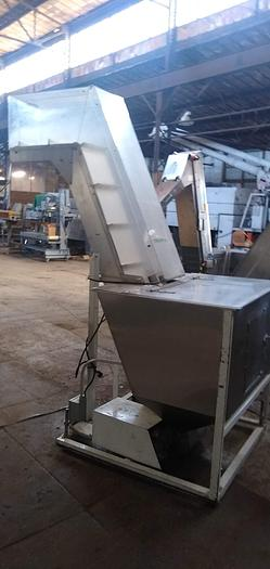 "Used Stainless Feed Hopper 10.5"" w x 81h"