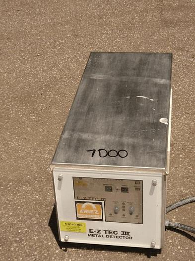 Used ERIEZ EZ TEC III METAL DETECTOR