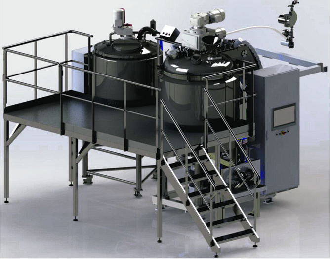 1200 Liter VMI Misceo Vacuum Homogenizer Mixer (#9851)