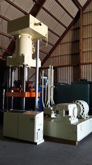 550 Ton Cincinnati Triple Action Hydraulic Press; 4 Column Down-Acting Type; Arranged for High Speed Deep Drawing; Mfg. 1989