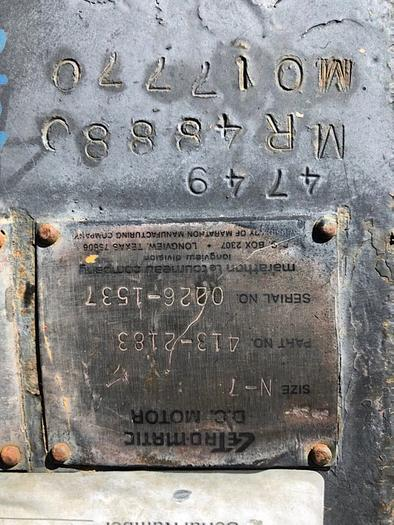 HB18240 LeTourneau wheel motors DC
